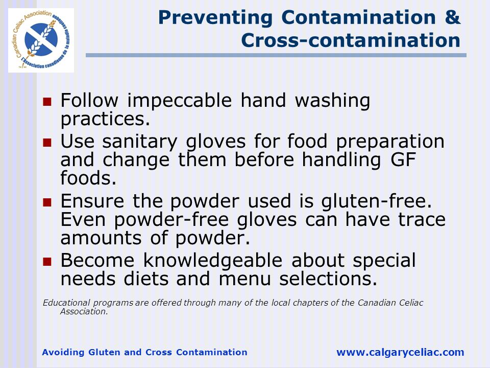 Preventing Contamination & Cross-contamination