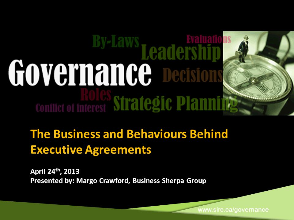 The Business and Behaviours Behind Executive Agreements
