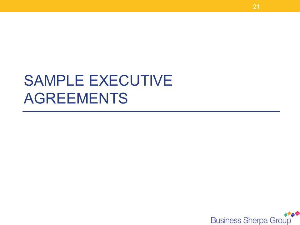 SAMPLE EXECUTIVE AGREEMENTS
