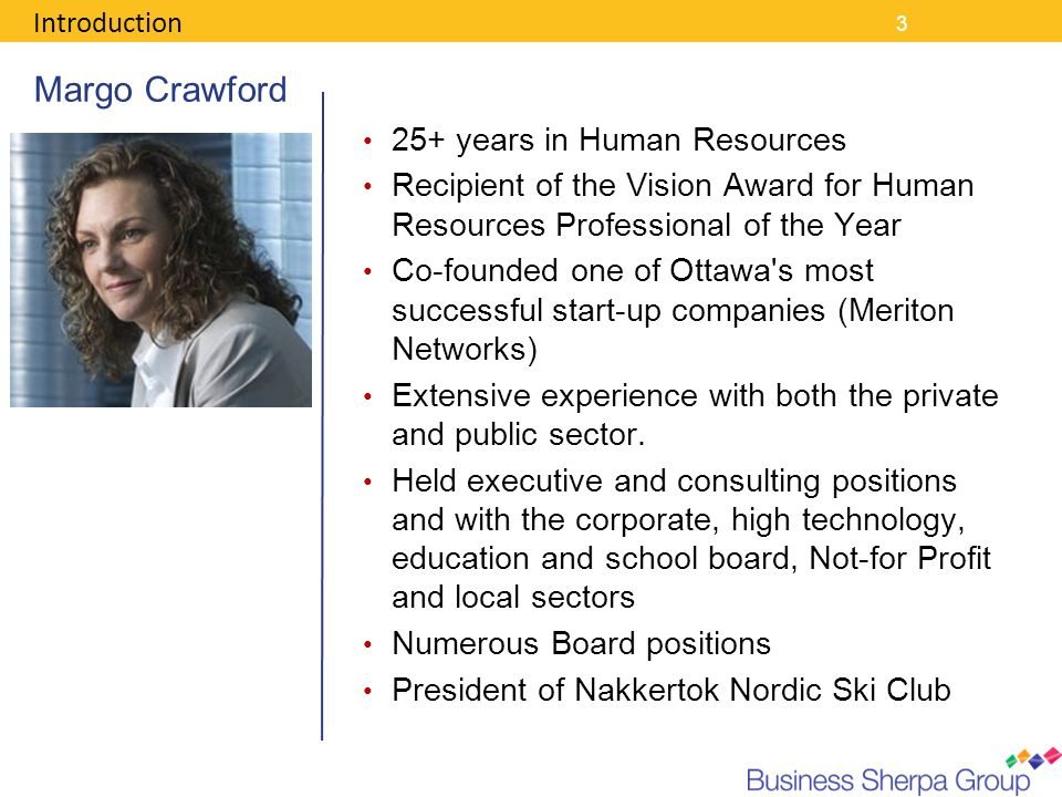 Margo Crawford 25+ years in Human Resources