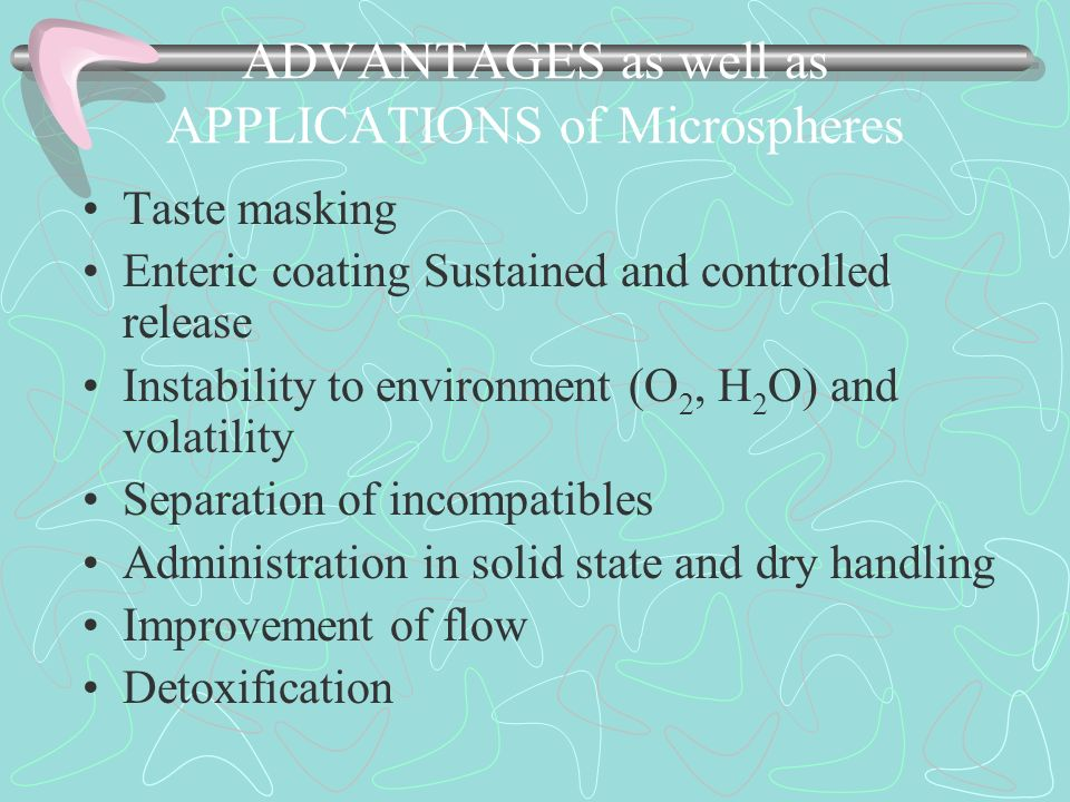 ADVANTAGES as well as APPLICATIONS of Microspheres