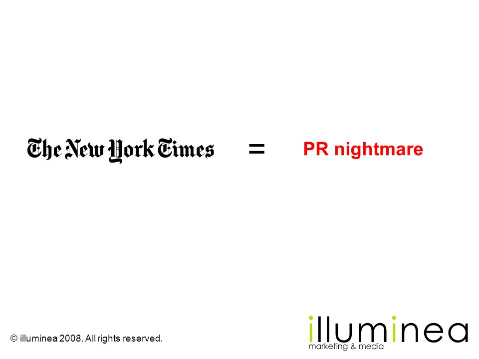 = PR nightmare