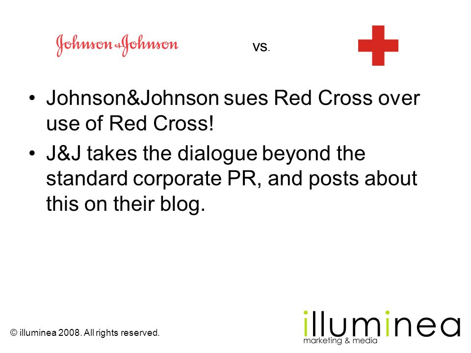 Johnson&Johnson sues Red Cross over use of Red Cross!