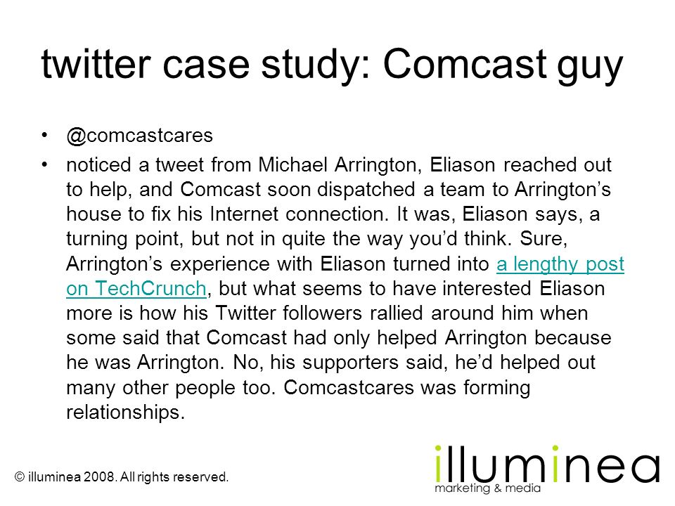 twitter case study: Comcast guy