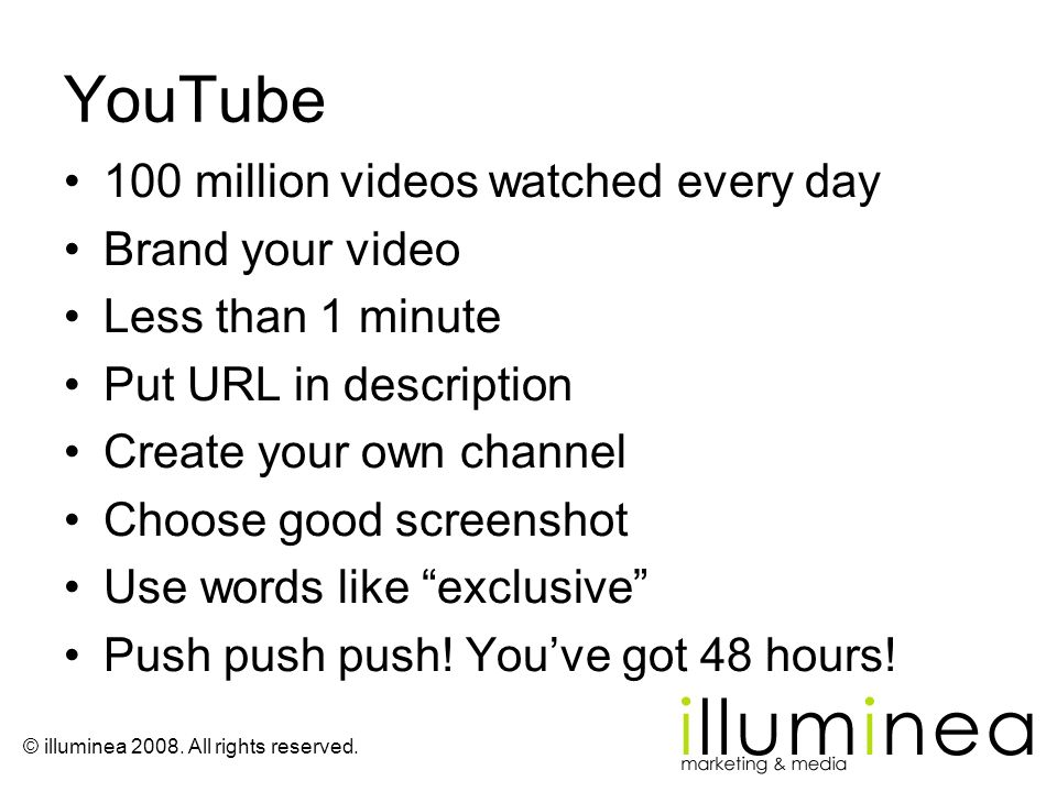 YouTube 100 million videos watched every day Brand your video