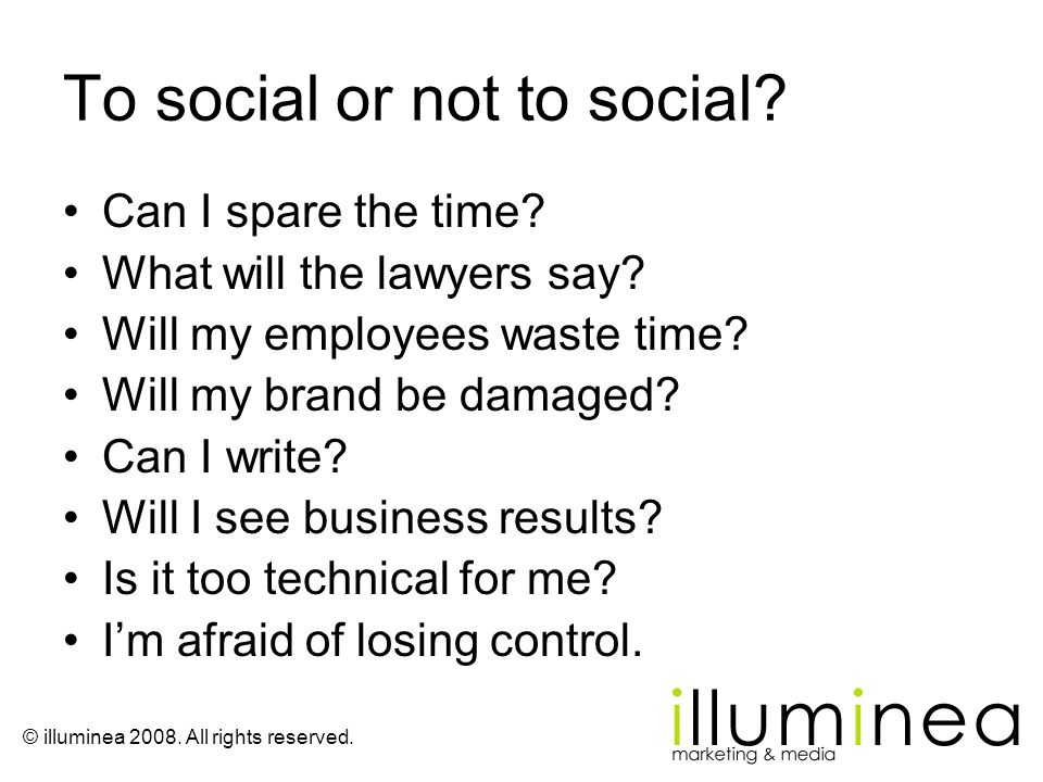 To social or not to social