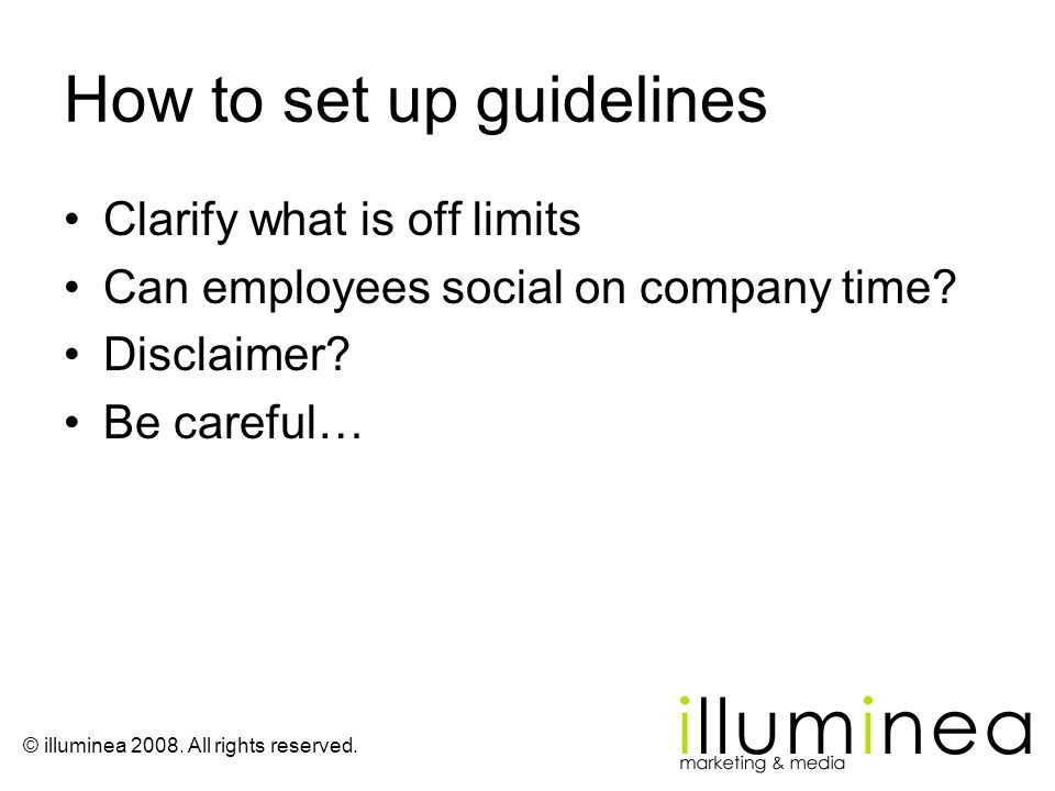 How to set up guidelines