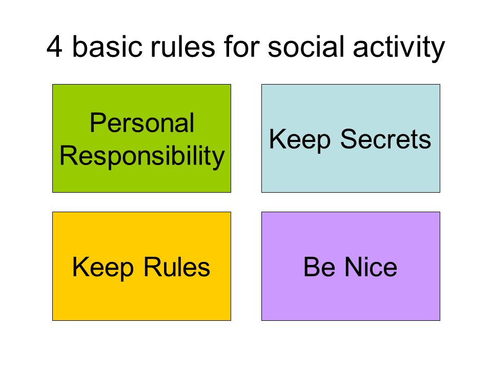 4 basic rules for social activity