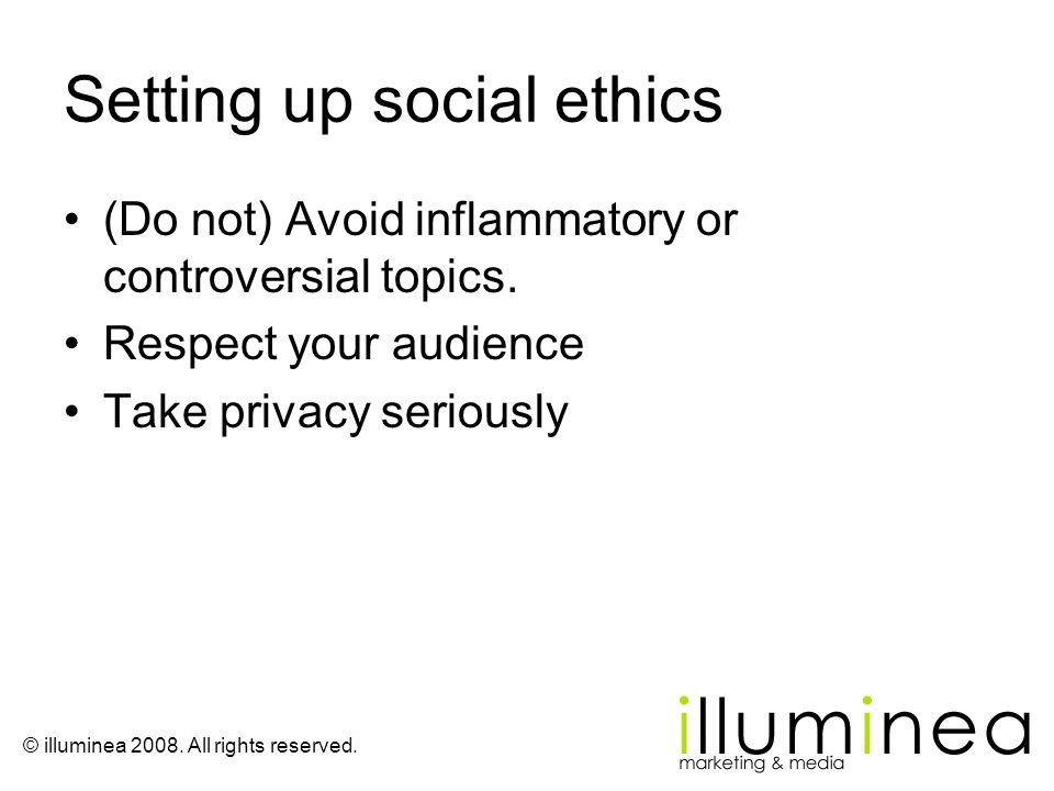 Setting up social ethics