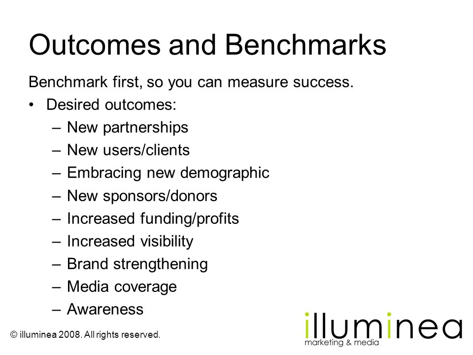 Outcomes and Benchmarks