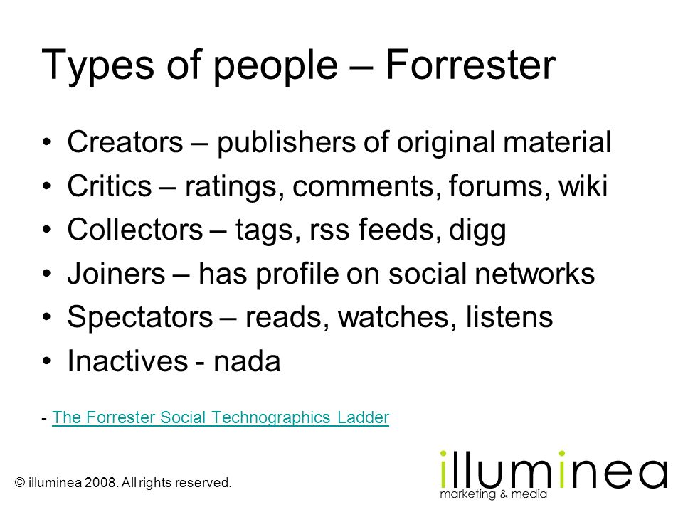 Types of people – Forrester