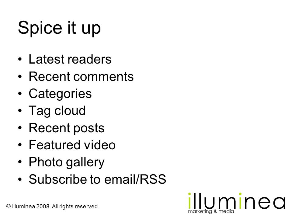Spice it up Latest readers Recent comments Categories Tag cloud
