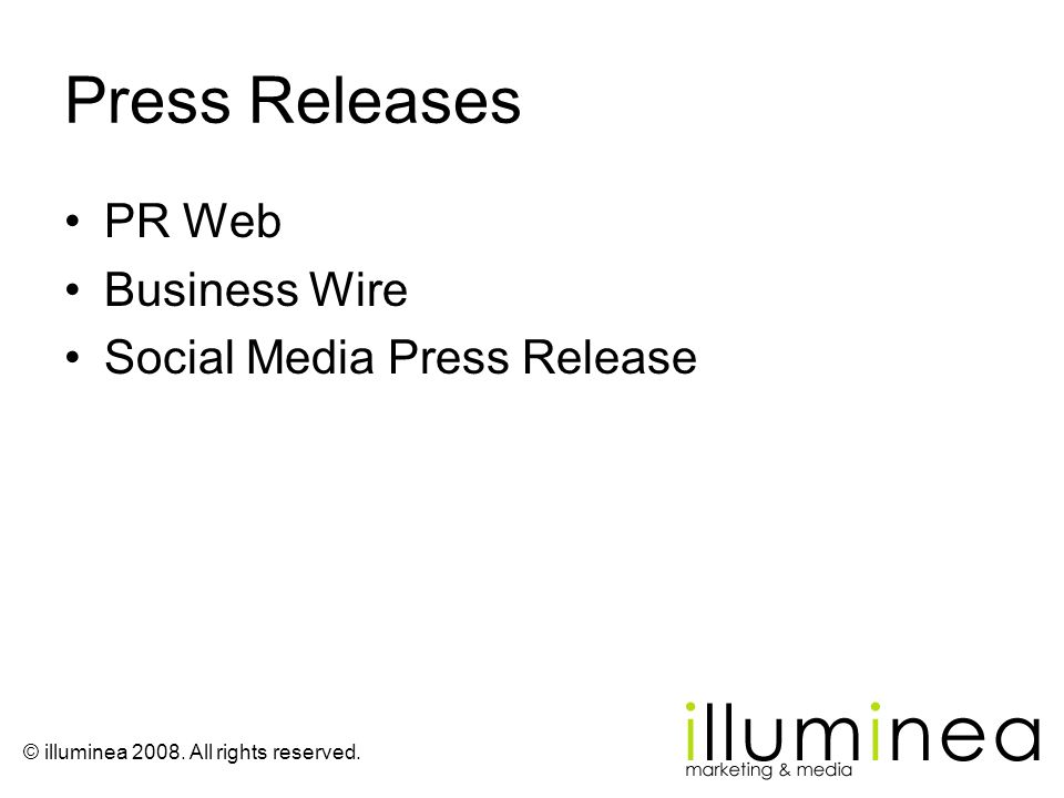 Press Releases PR Web Business Wire Social Media Press Release