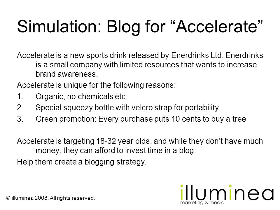 Simulation: Blog for Accelerate