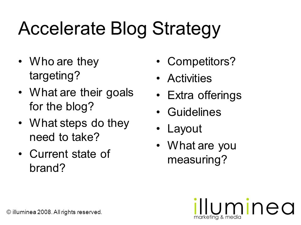 Accelerate Blog Strategy