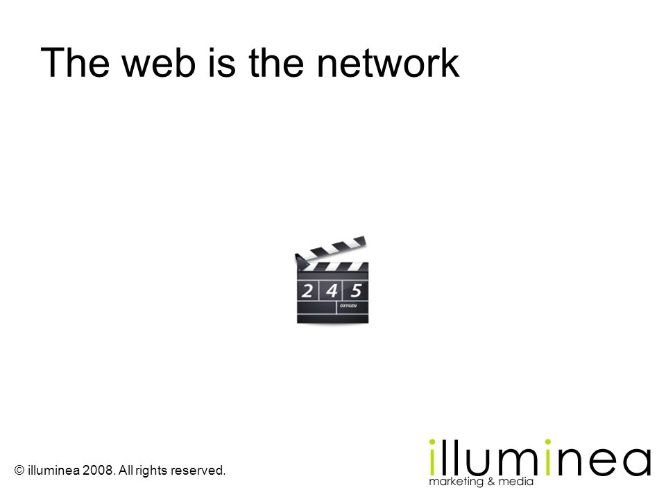 The web is the network
