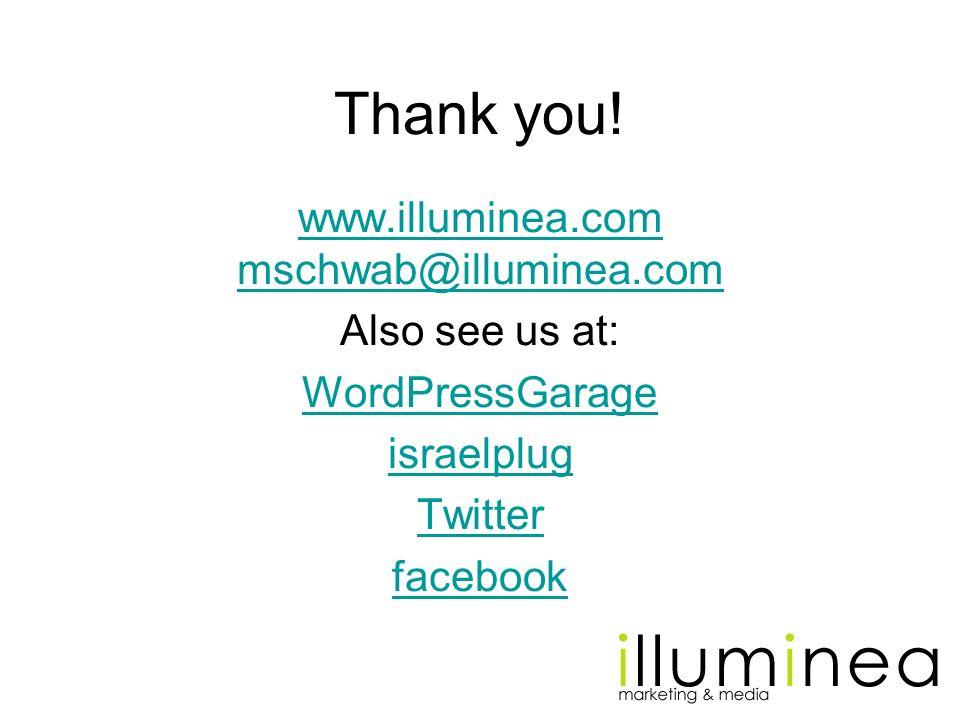 www.illuminea.com mschwab@illuminea.com