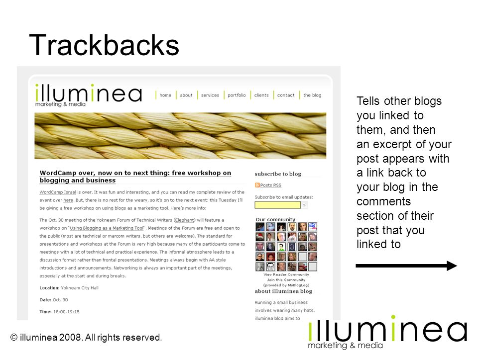 Trackbacks