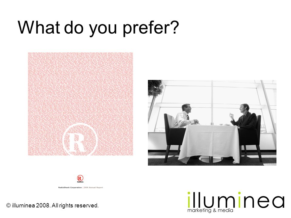 What do you prefer Reading an annual report, or lunch with a key executive