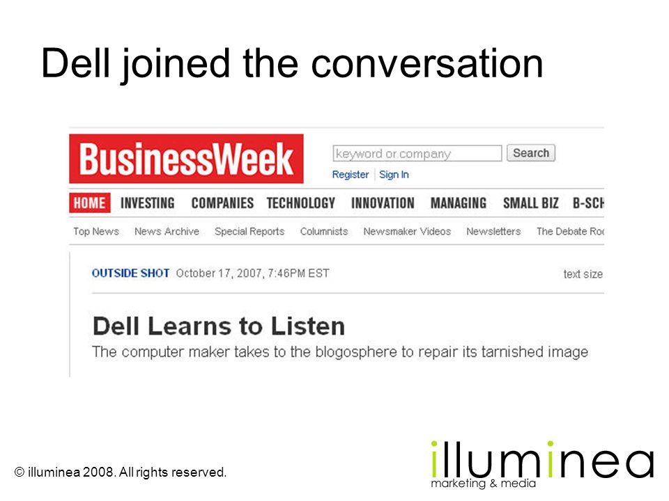 Dell joined the conversation