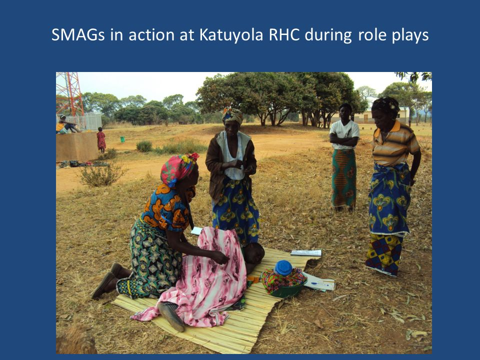 SMAGs in action at Katuyola RHC during role plays