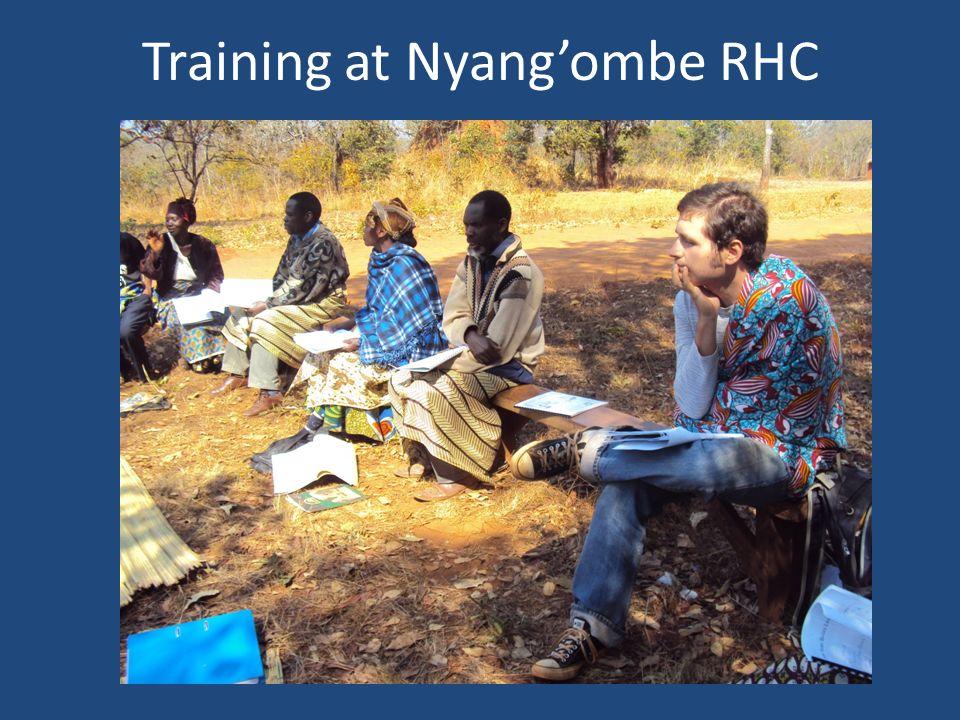 Training at Nyang'ombe RHC