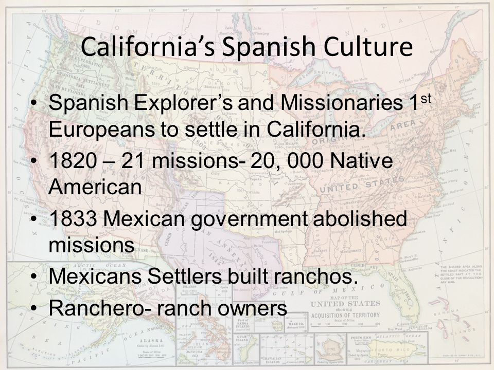 California's Spanish Culture