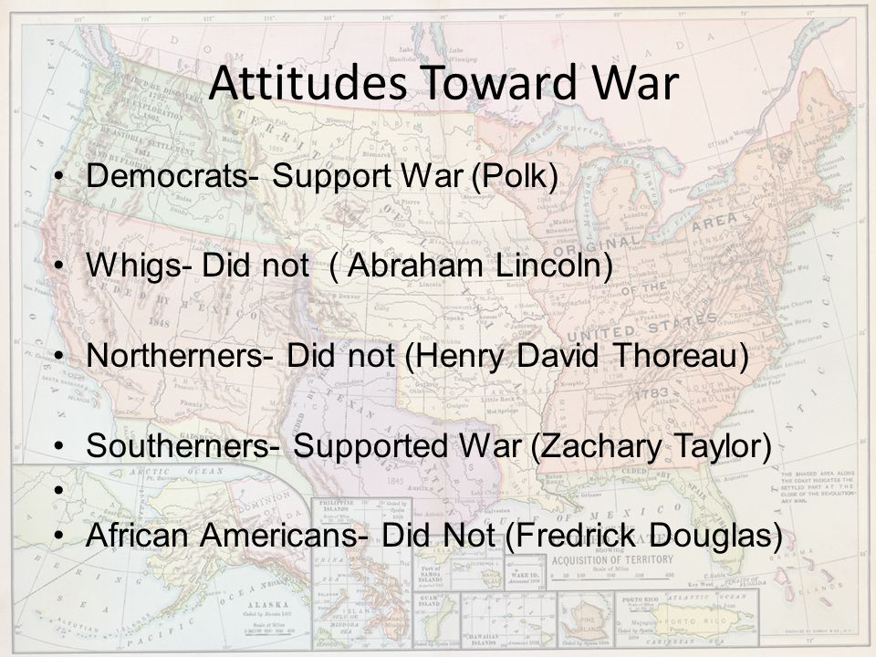 Attitudes Toward War Democrats- Support War (Polk)