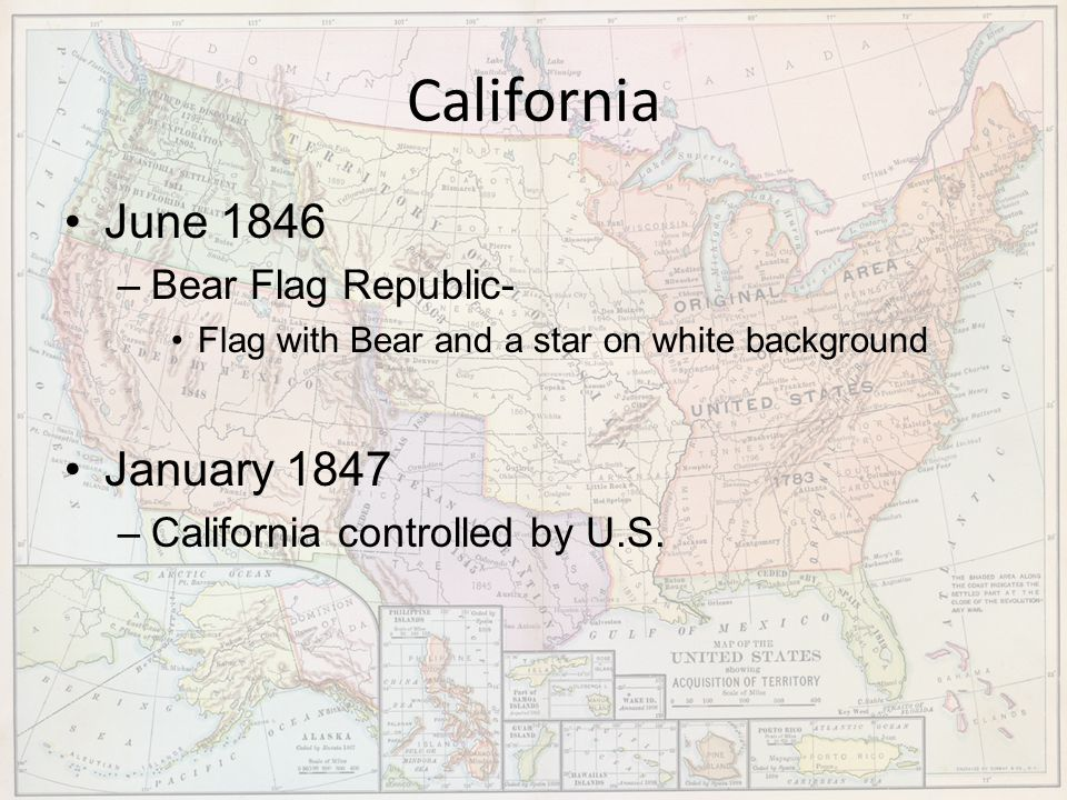 California June 1846 January 1847 Bear Flag Republic-