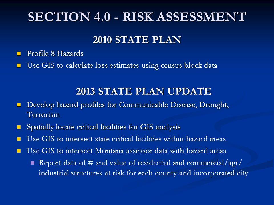 SECTION 4.0 - RISK ASSESSMENT