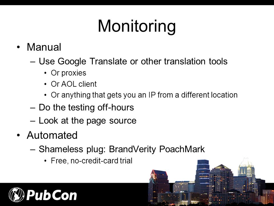 Monitoring Manual Automated