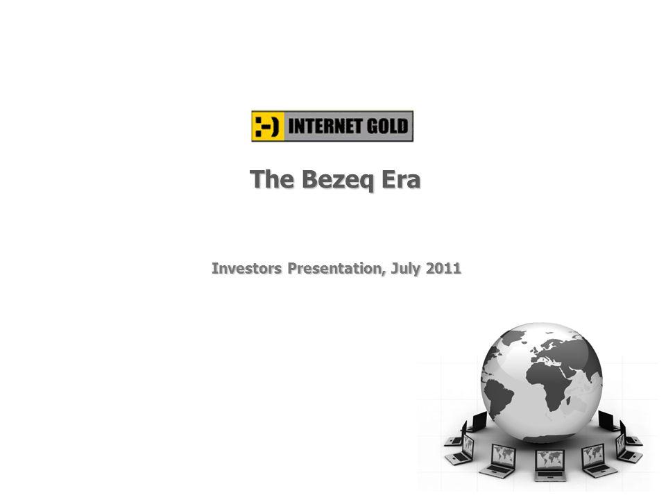 Investors Presentation, July 2011