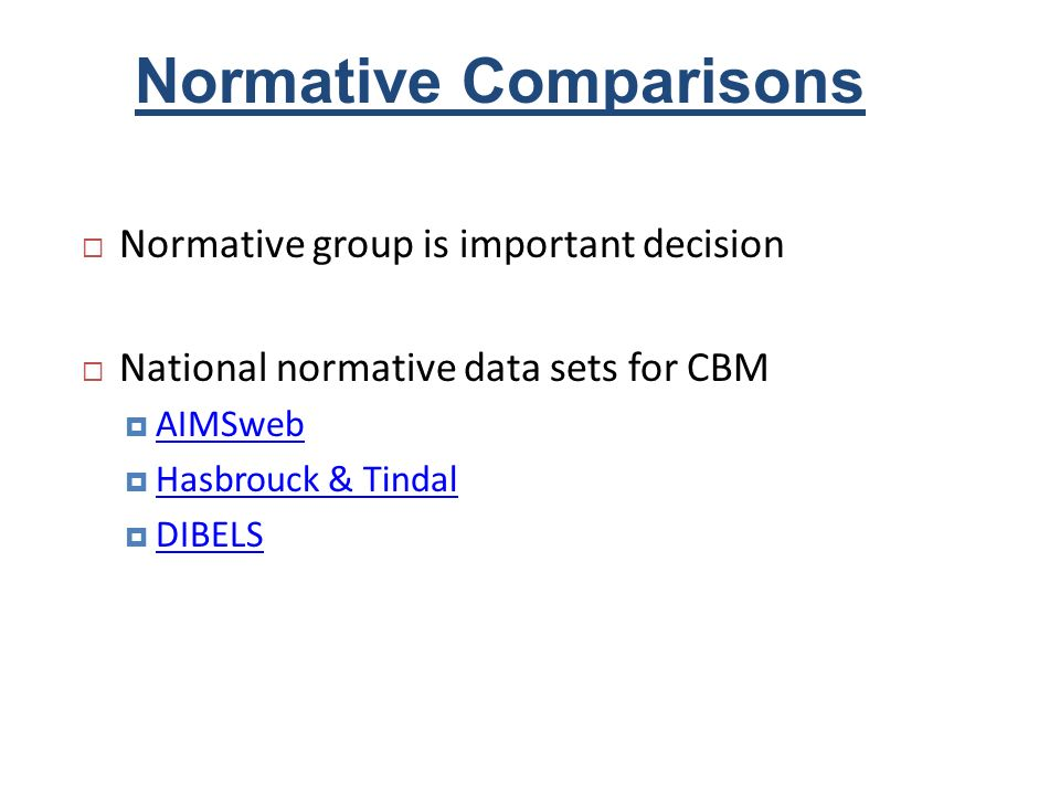 Normative Comparisons