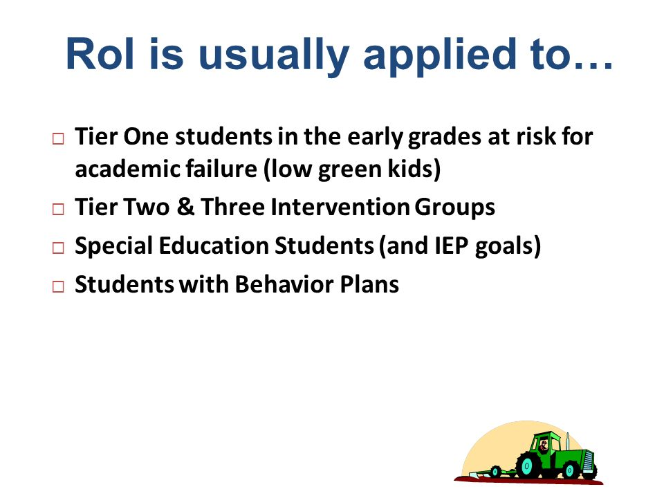 RoI is usually applied to…