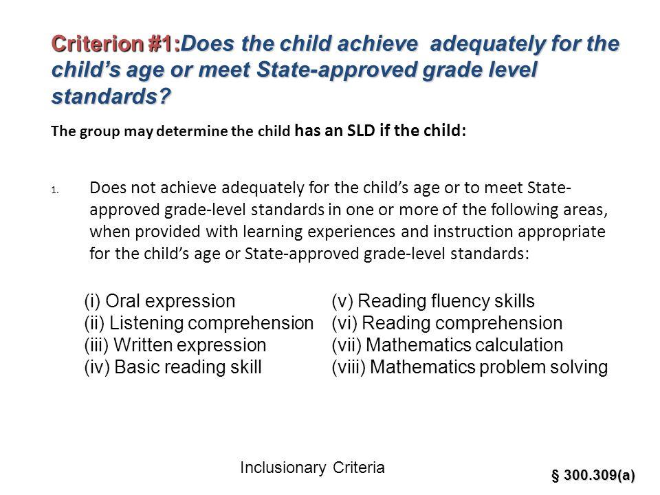 Inclusionary Criteria