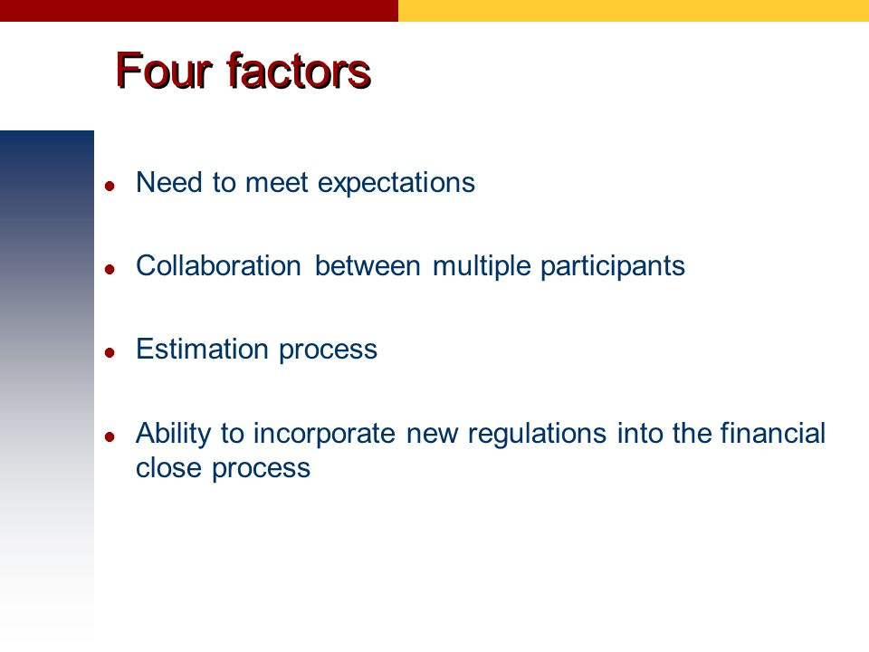 Four factors Need to meet expectations