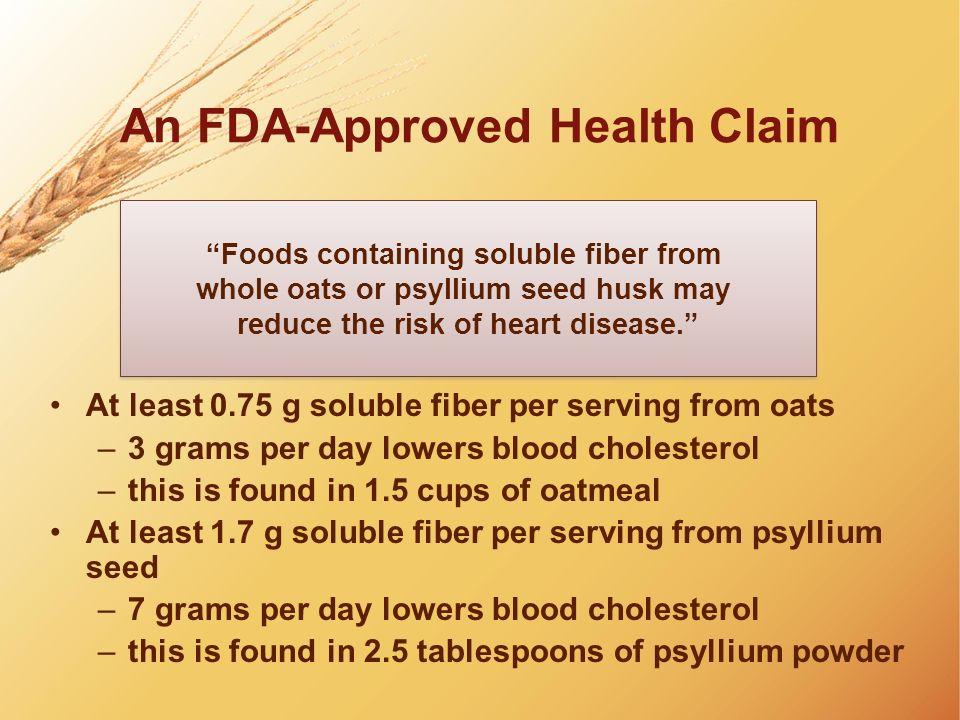 An FDA-Approved Health Claim