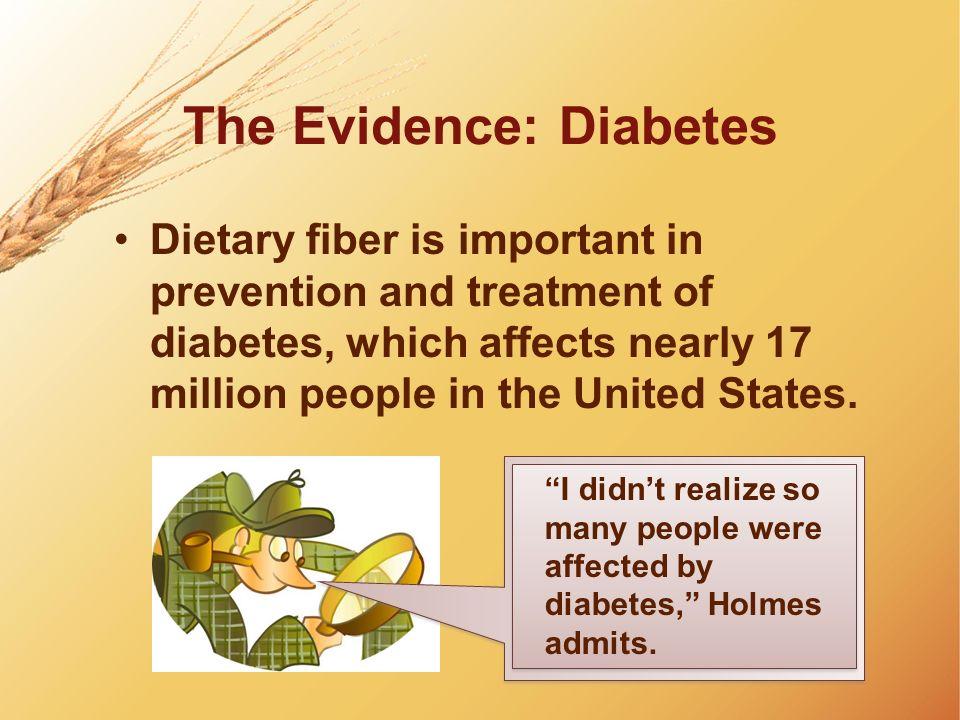 The Evidence: Diabetes