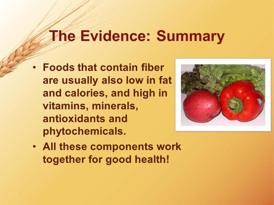 The Evidence: Summary