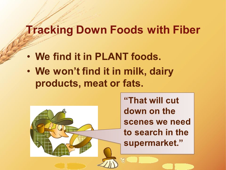 Tracking Down Foods with Fiber