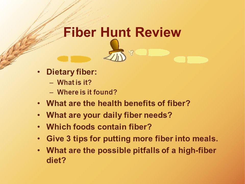 Fiber Hunt Review Dietary fiber: