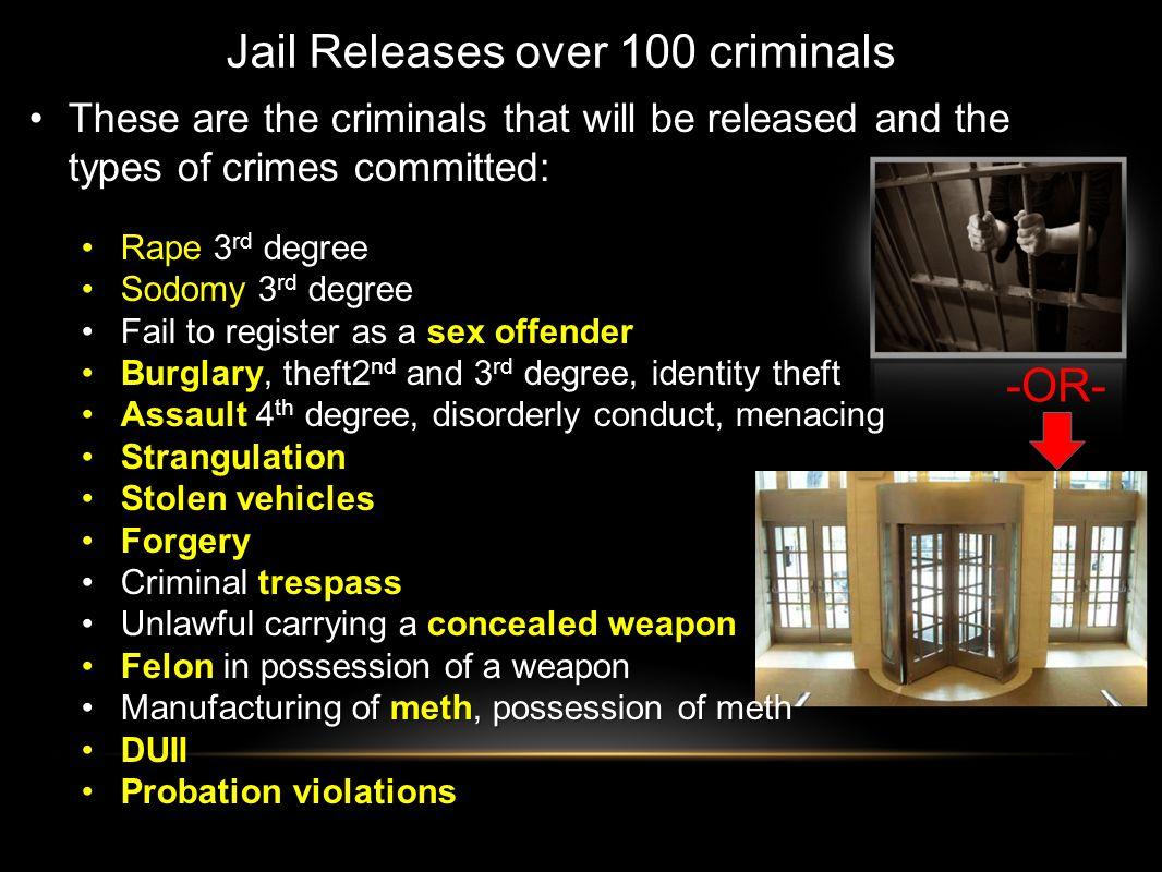 Jail Releases over 100 criminals