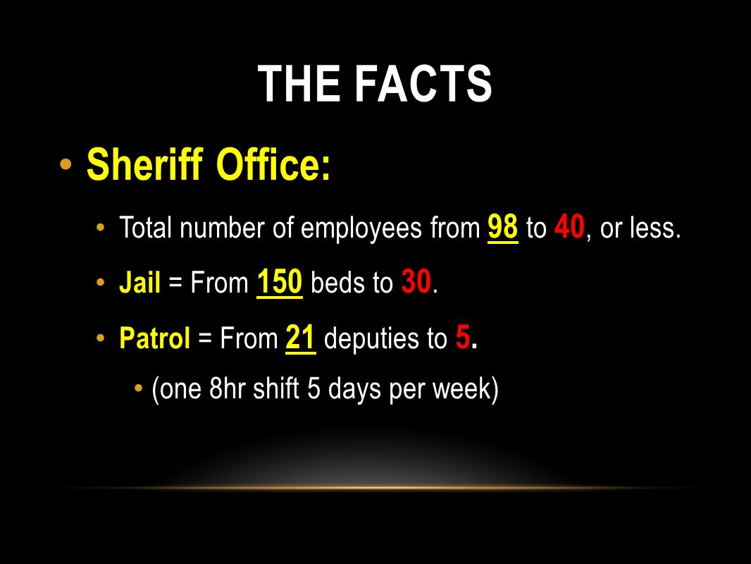 THE FACTS Sheriff Office: