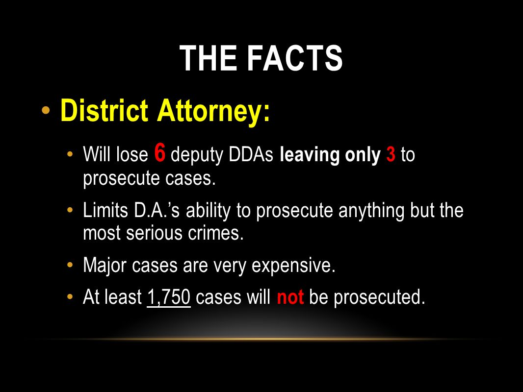 THE FACTS District Attorney: