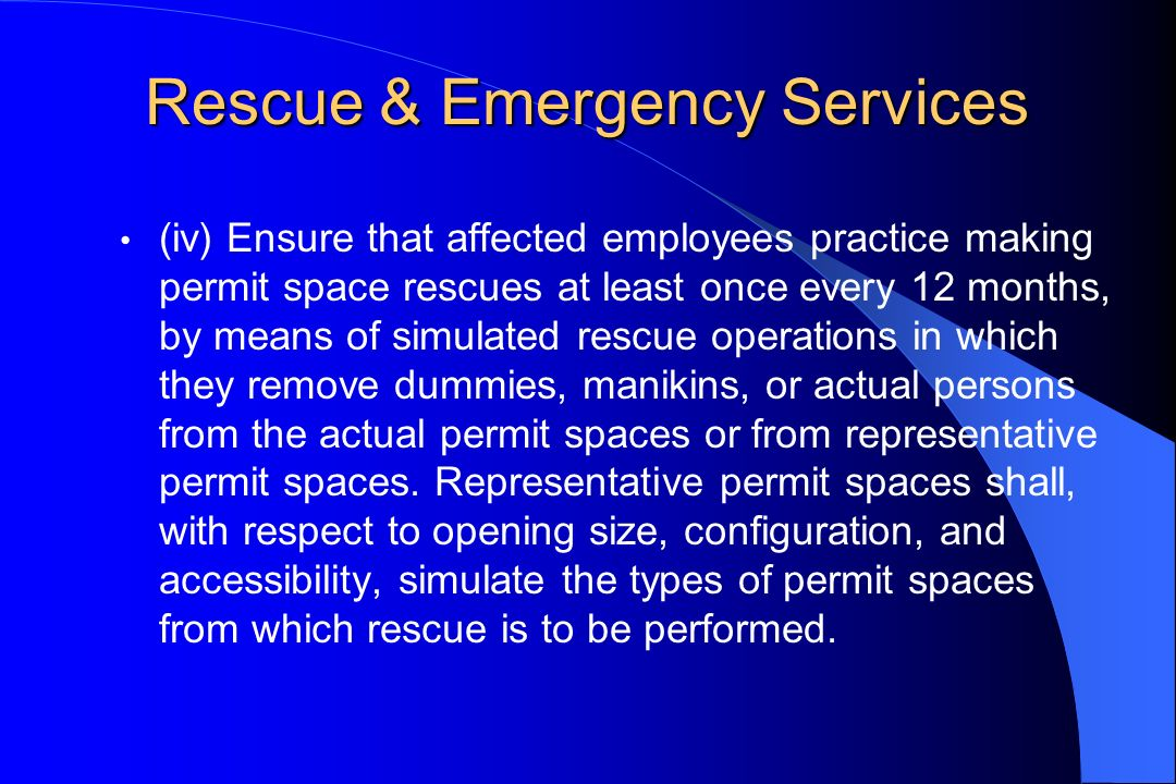Rescue & Emergency Services