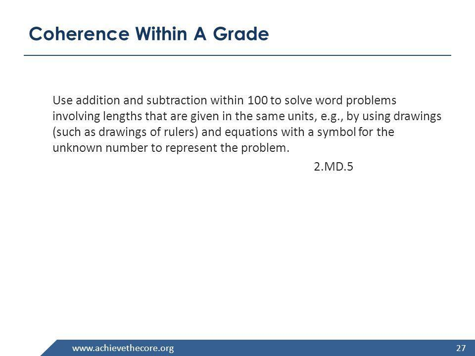 Coherence Within A Grade