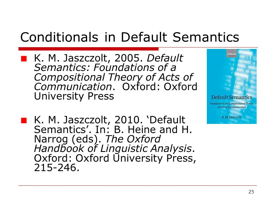 Conditionals in Default Semantics