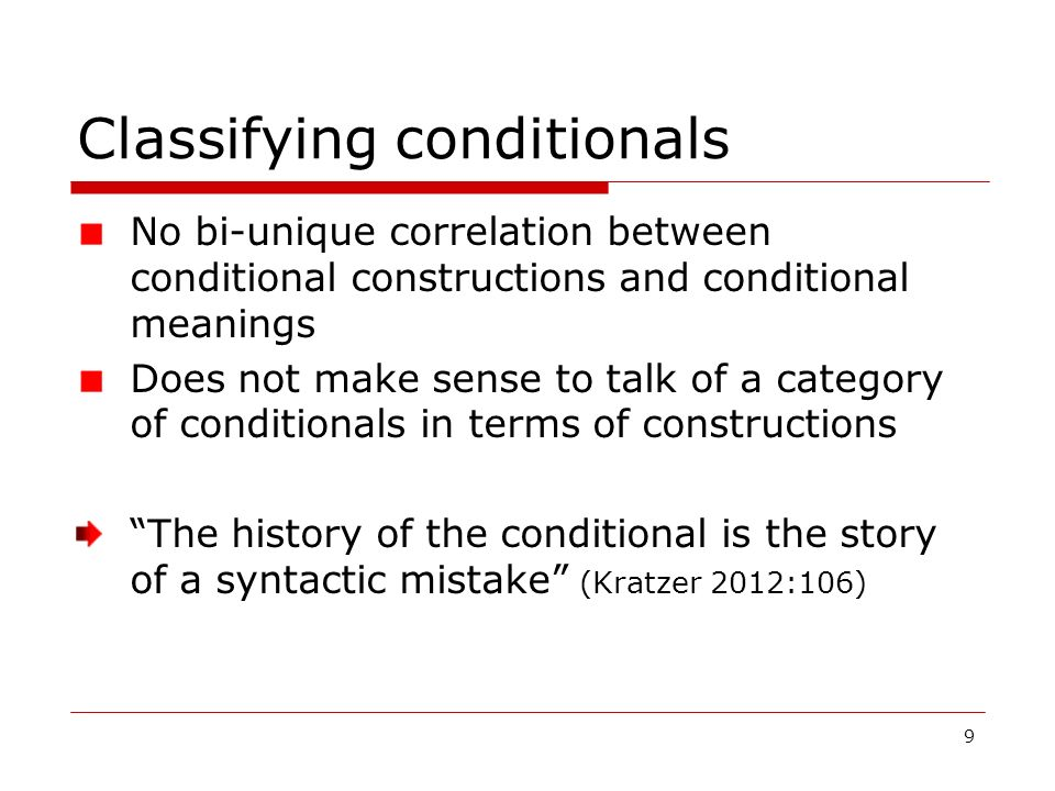 Classifying conditionals