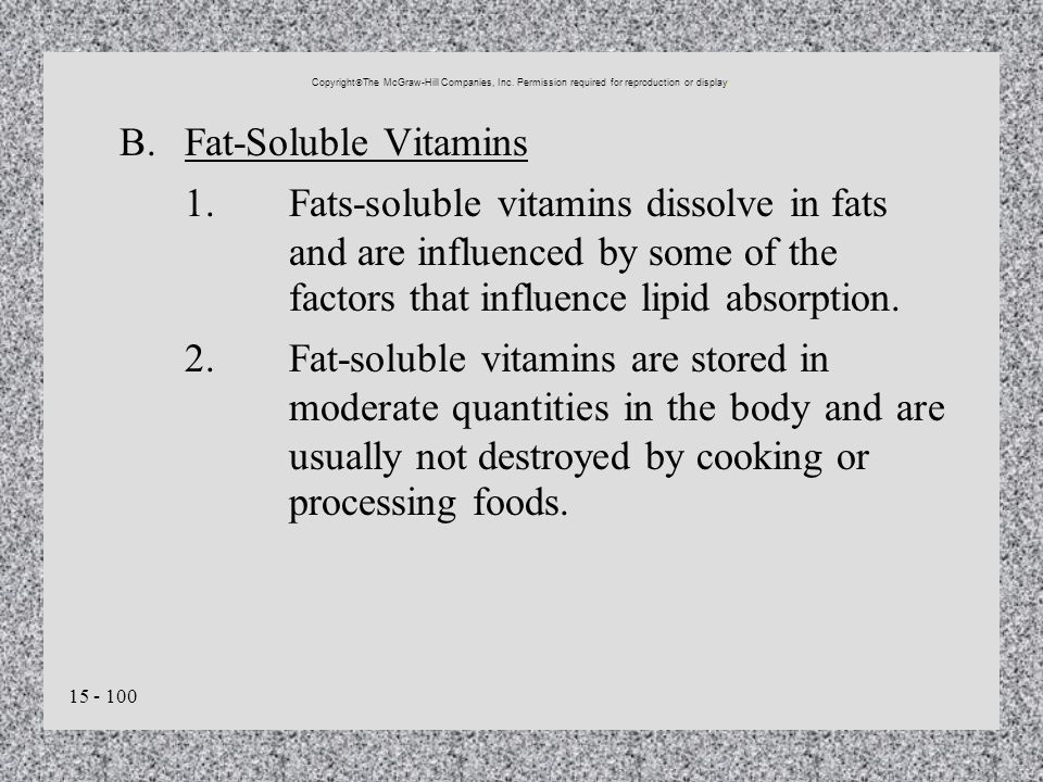 B. Fat-Soluble Vitamins