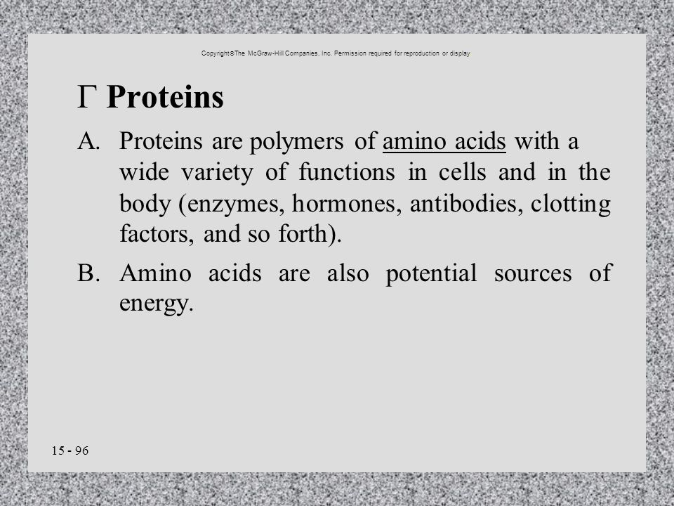 B. Amino acids are also potential sources of energy.